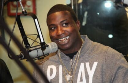 """NEW YORK, NY - OCTOBER 08: Gucci Mane invades """"The Whoolywood Shuffle"""" at SiriusXM Studios on October 8, 2012 in New York City. (Photo by Johnny Nunez/WireImage)"""