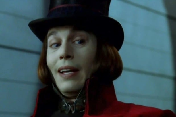 johnny depp as willy wonka in charlie and