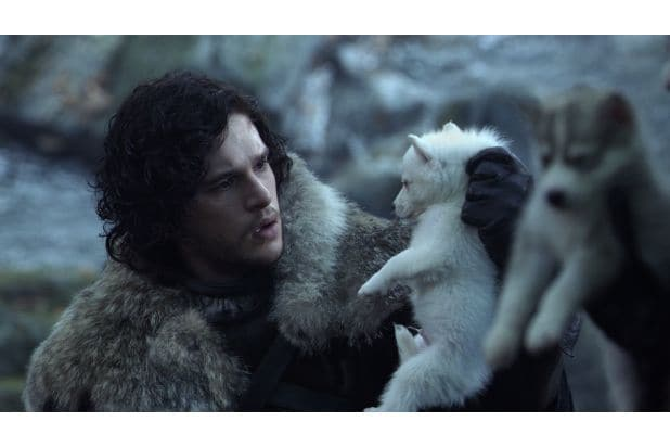 jon snow and baby ghost