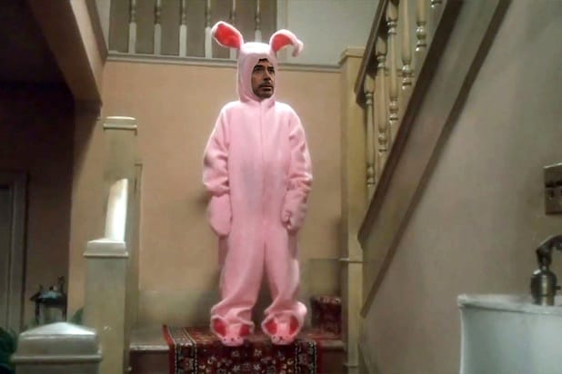 robert downey jr rabbit suit