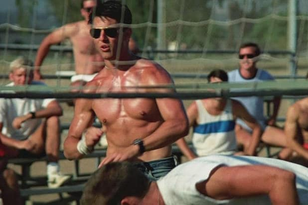top gun volleyball scene