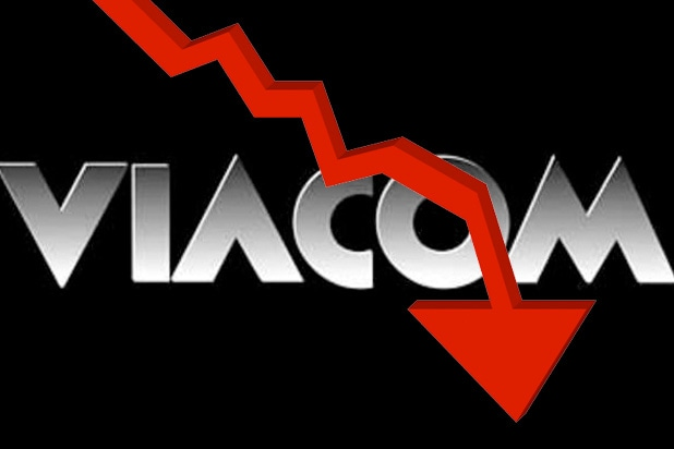 viacom stock slide