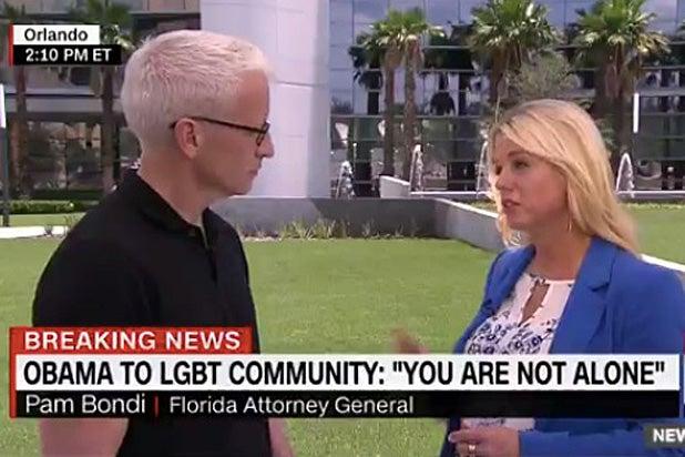Anderson Cooper and Pam Bondi