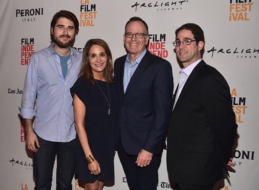 "LOS ANGELES, CA - JUNE 06: Director Ben Lear, producer Sasha Alpert, executive producers Jonathan Murray and Gil Goldschein attend the premiere of ""They Call Us Monsters"" during the 2016 Los Angeles Film Festival at LACMA on June 6, 2016 in Los Angeles, California. (Photo by Alberto E. Rodriguez/WireImage)"