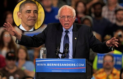 Bernie Sanders and Obama