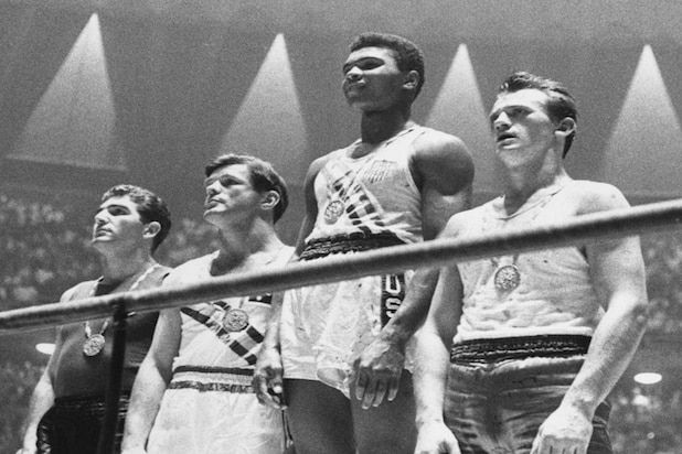 Cassius Clay wins gold medal for light heavyweight boxing in 1960 Summer Olympics