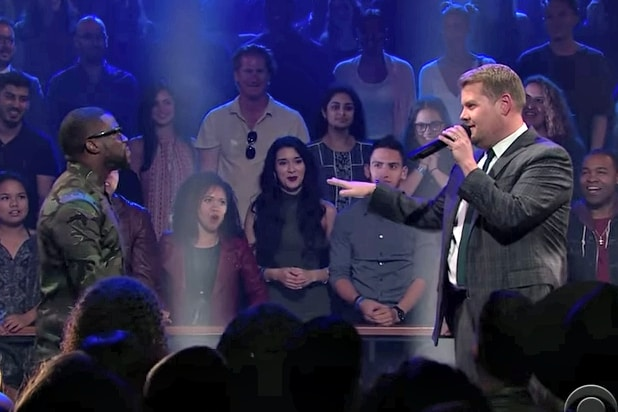 James Corden Nicknames Kevin Hart  Jokey Smurf  in Rap Battle (Video) 66b53a3d4
