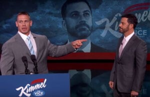 John Cena endorses Jimmy Kimmel for VP