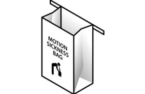 motion sickness bag virtual reality