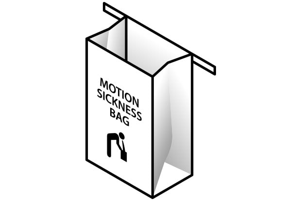 motion sickness bag virtual reality