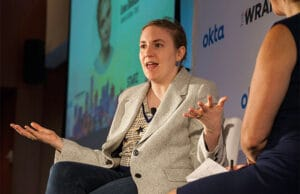 Lena Dunham Wrap Power Women Breakfast