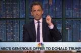 Meyers makes Trump an offer