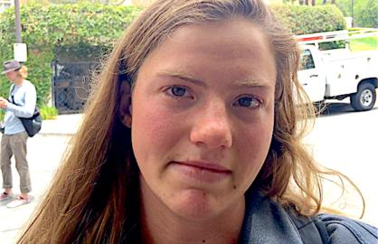 UCLA student Marie Pierre Delisle