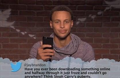 Stephen Curry Jimmy Kimmel Mean Tweet