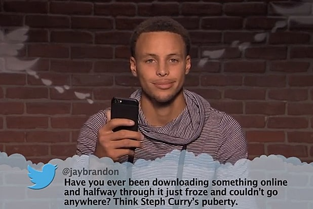 Stephen Curry, Magic Johnson Get Ripped by Jimmy Kimmel's 'Mean Tweets - NBA Edition' (Video)