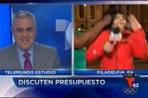 Telemundo Reporter Brutally Punched on Live TV (Video)