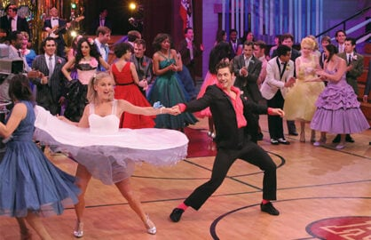 Julianne Hough and Aaron Tveit in Grease Live