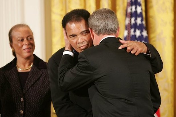 Muhammad Ali awarded the Presidential Medal of Freedom