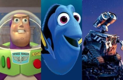 best pixar characters finding dory
