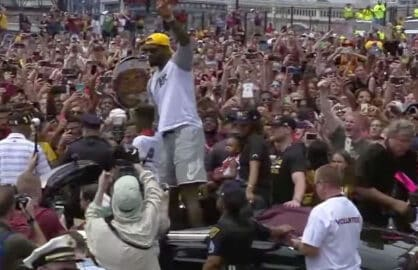 cavaliers parade lebron james