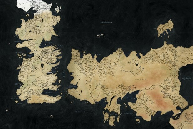 game of thrones map of the world small