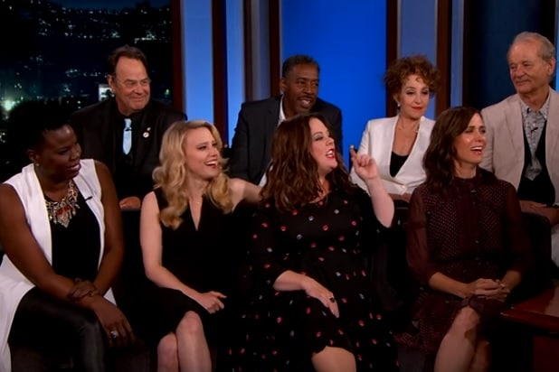 ghostbusters casts jimmy kimmel