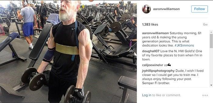 jk simmons justice league workout