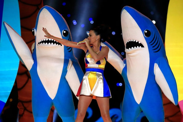 katy perry superbowl sharks