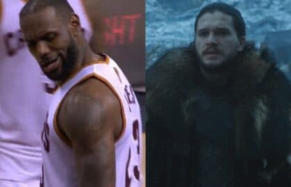 lebron james jon snow nba finals game of thrones