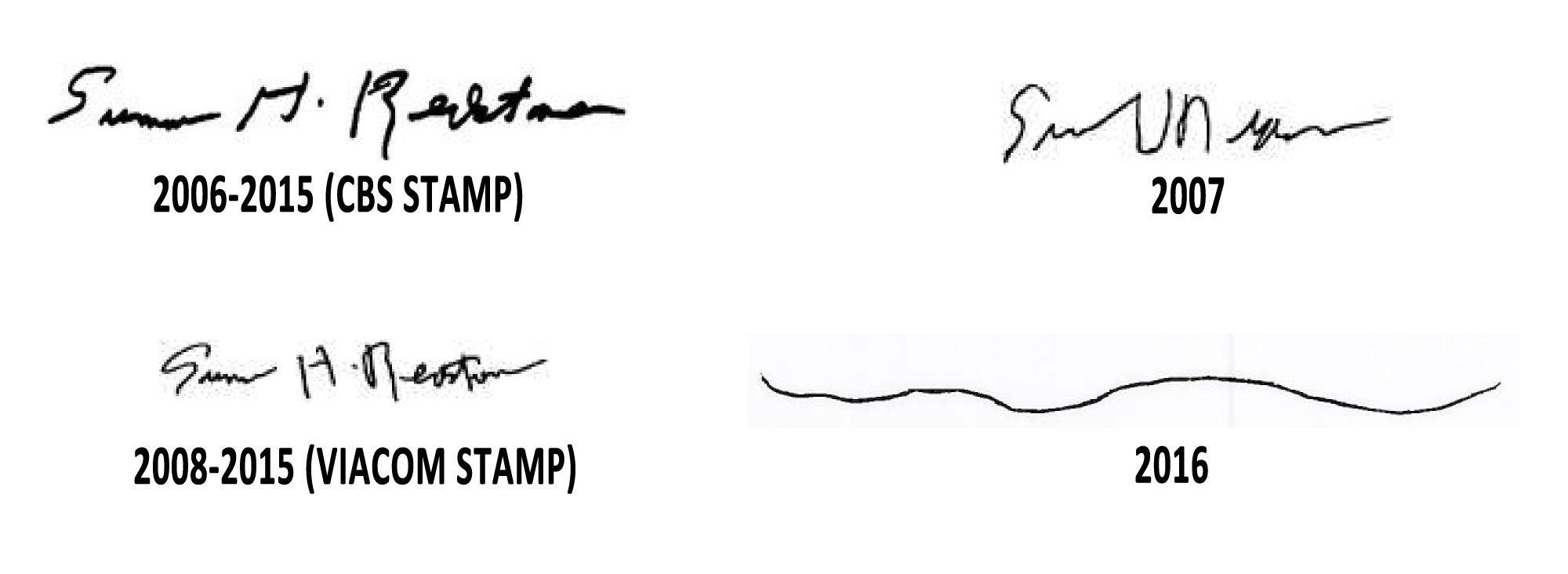 sumner redstone signatures