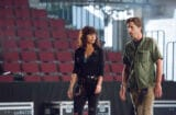 Carla Gugino and Luke Wilson in the Roadies pilot