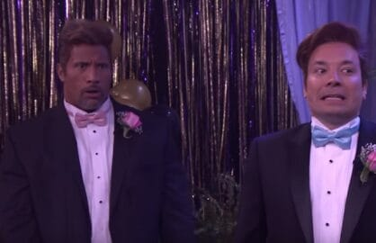 the rock jimmy fallon prom
