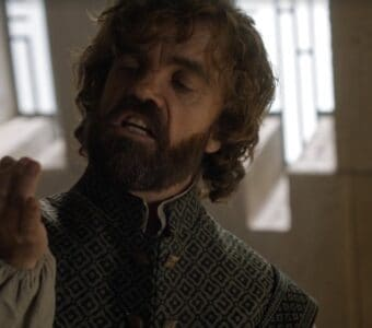 tyrion joke game of thrones flies spit it out