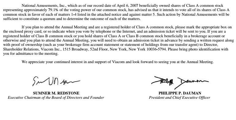 viacom proxy sumner signature 2007