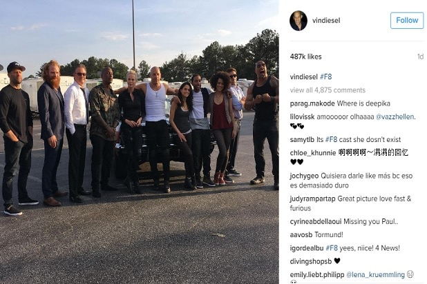 vin diesel fast 8 cast photo