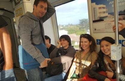 wrap staff on train