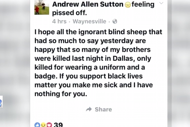 Andrew Sutton Black Lives Matter