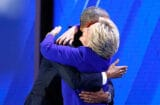 Barack Obama Hillary Clinton Hug Democratic Convention