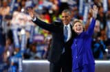 Barack Obama and Hillary Clinton at Democratic Convention