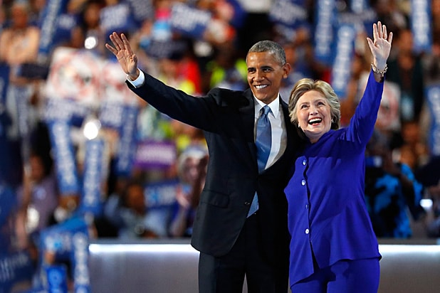 Obama Pens Powerful Essay On Feminism Barack Obama And Hillary Clinton At Democratic Convention