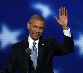 Barack Obama at Democratic Convention
