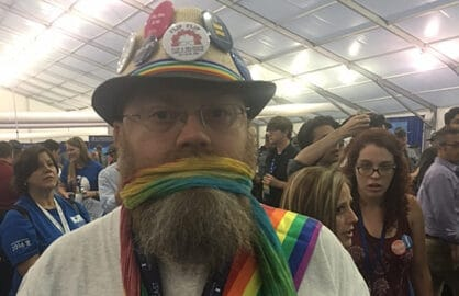 Bernie Sanders supporter at Democratic Convention
