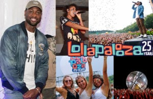 Lollapalooza sightings include Dwayne Wade, first daughter Malia Obama, and Diplo in a hamster ball. (Getty Images)