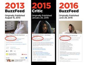 BuzzFeed Chronology