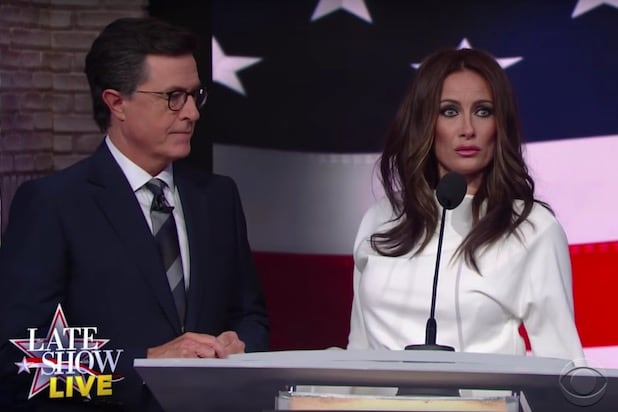 """Late Show"" sketch features Melania Trump plagiarizing Dr. Seuss"