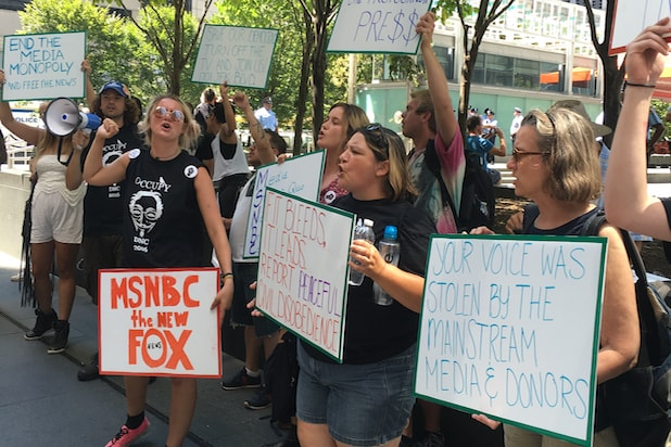Comcast DNC protest