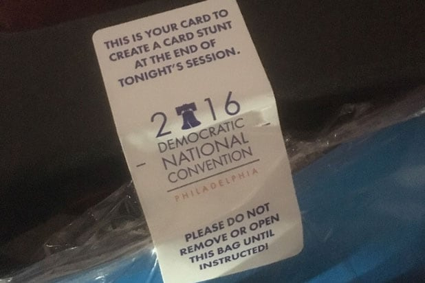 dnc card democratic convention