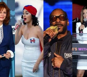 Susan Sarandon, Katy Perry, Snoop Dogg, Eva Longoria DNC