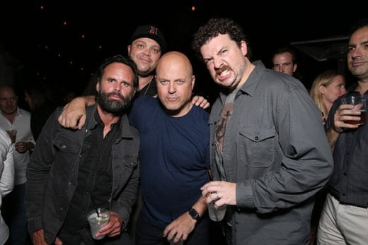 SAN DIEGO, CA - JULY 24: (L-R) Actors Walton Goggins, Michael Chiklis and Danny McBride attend Entertainment Weekly's Comic-Con Bash held at Float, Hard Rock Hotel San Diego on July 24, 2016 in San Diego, California sponsored by HBO. (Photo by Todd Williamson/Getty Images for Entertainment Weekly)