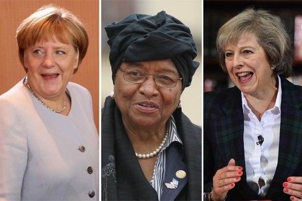 Angela Merkel Ellen Johnson Sirleaf Theresa May